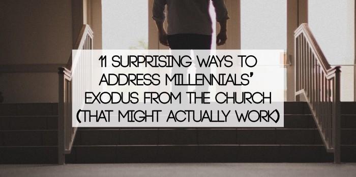 Millennials leaving the church